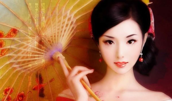 Волосы и поведение японской гейши