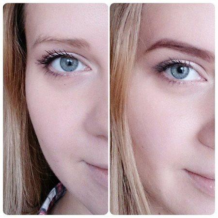 До и после окрашивания бровей хной