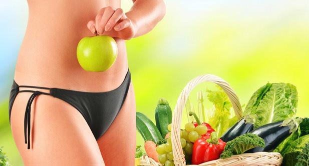 Чтобы быстро похудеть следует правильно питаться низкокалорийными продуктами