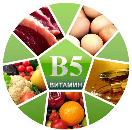 Перечень продуктов с витамином В5. Доля содержания витамина