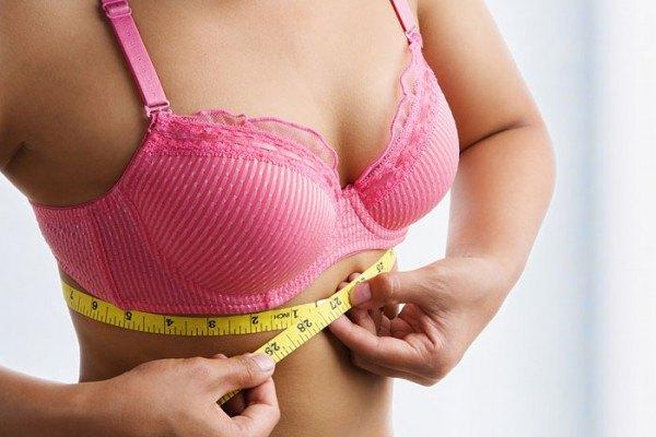 Снятие замеров в области груди