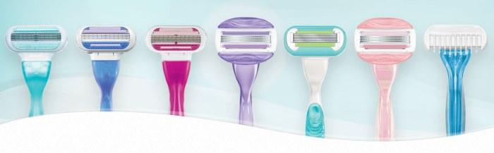 вариантов женских станков для бритья довольно много