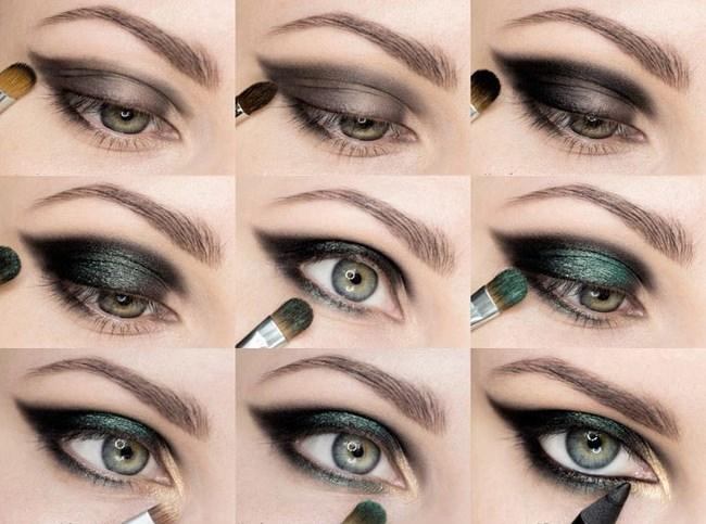 Как накрасить глаза темными тенями поэтапно (пошаговая инструкция)