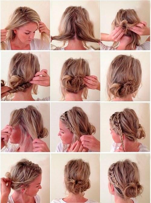 Как сделать красивую прическу на средние волосы быстро