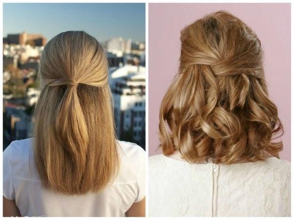 Удлиненное каре на длинные волосы без челки, с челкой. Фото до и после