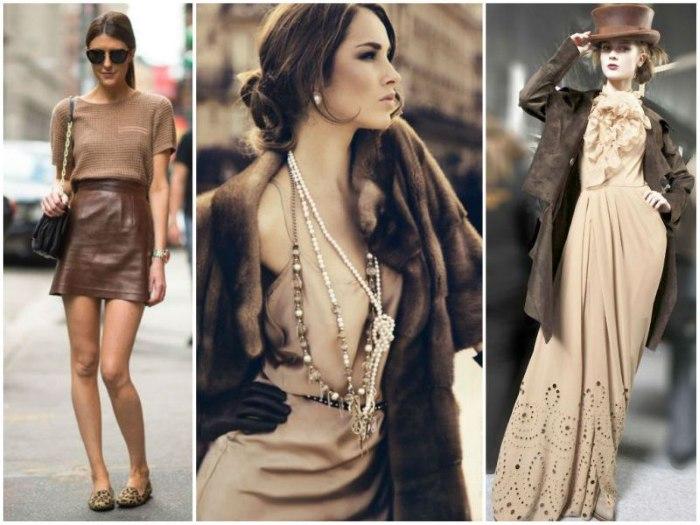 Какой цвет подходит к коричневому в одежде. Фото сочетаний с коричневым
