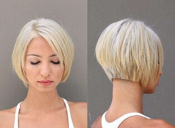 Ровное каре с челкой и без, до плеч, подбородка, на тонкие, густые волосы, блонд. Фото