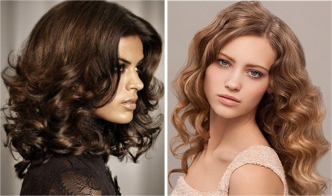 Стрижки женские на средние кудрявые волосы. Фото. Для круглого, овального лица