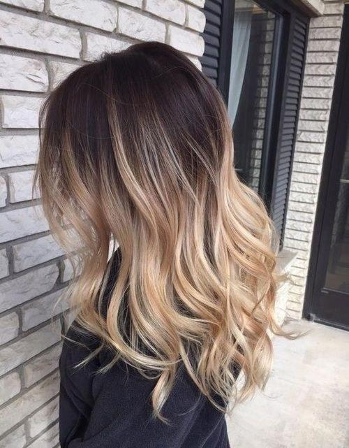 балаяж волос фото