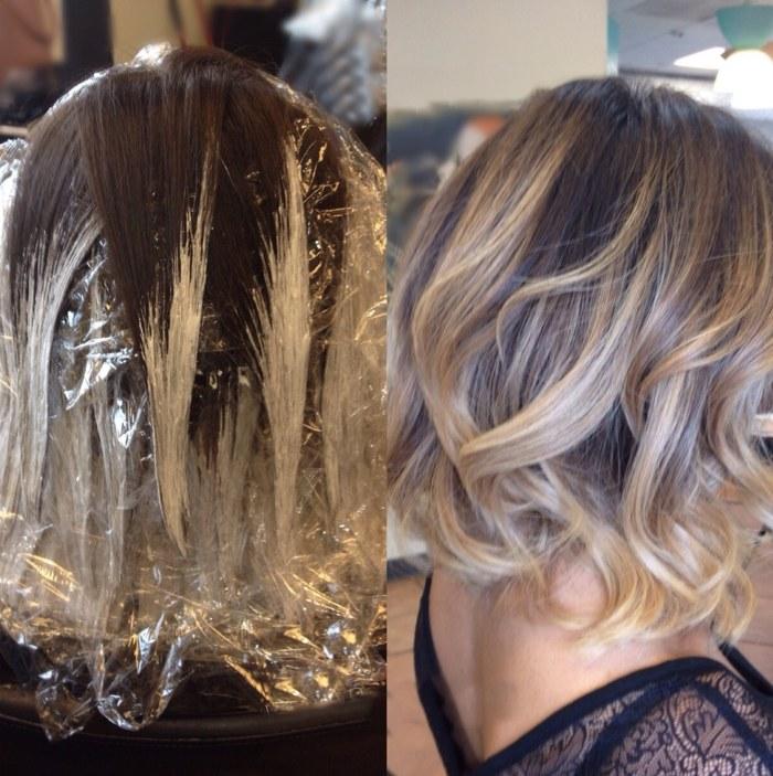 Покраска волос в стиле балаяж: фото, описание, техника