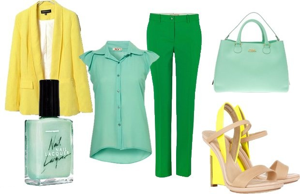 Зеленый цвет в одежде. С чем сочетается, к какому подходит, кому идет, с чем носить. Фото