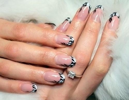 Идеи френча ногтей фото
