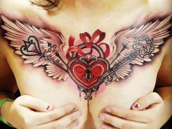 Тату Крылья (крыло) на спине – значение для девушек и мужчин. Фото