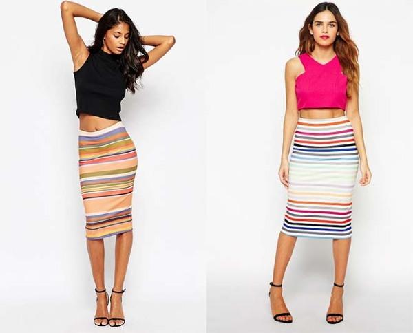 С чем носить юбку-карандаш. Фото, кожаная, джинсовая, с завышенной талией, трикотажная юбка