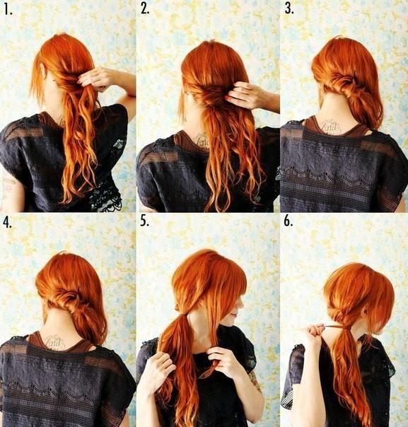 Прически за 5 минут на средние волосы своими руками в домашних условиях. Фото
