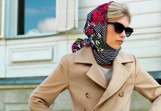 Как красиво завязать платок на голове разными способами как шапку, на крестины, хвостиками вверх. Пошагово с фото