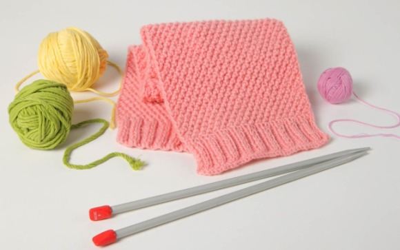 Вязание детских шарфиков спицами для начинающих 9