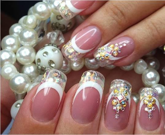 Дизайн Стразы на ногтях. Как красиво выложить, приклеить, закрепить, идеи расположения