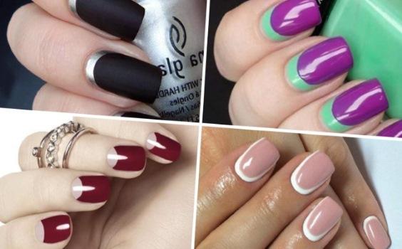 Гель лак на короткие ногти – новые идеи, дизайн, фото: френч, кошачий глаз, красивый лунный маникюр