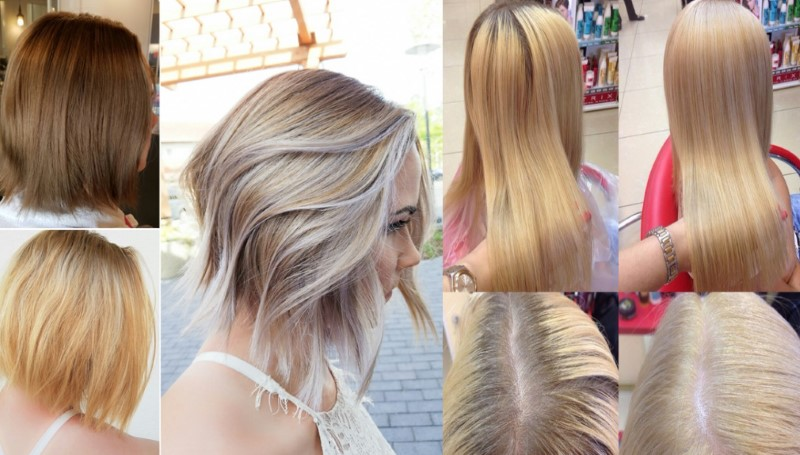 Краска для волос Матрикс - палитра цветов по номерам, фото на волосах