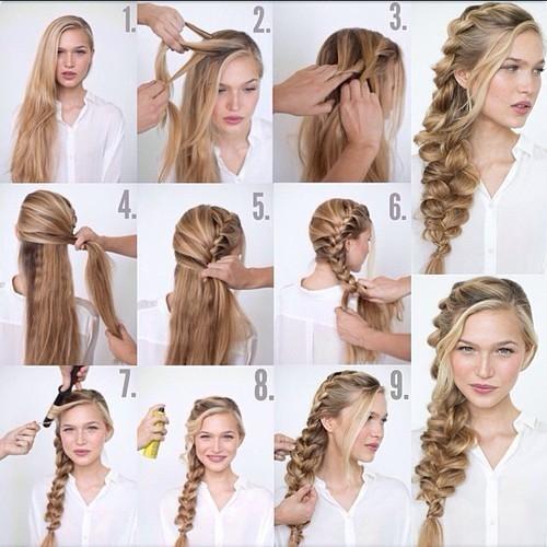 Прически на скорую руку на длинные волосы своими руками 8