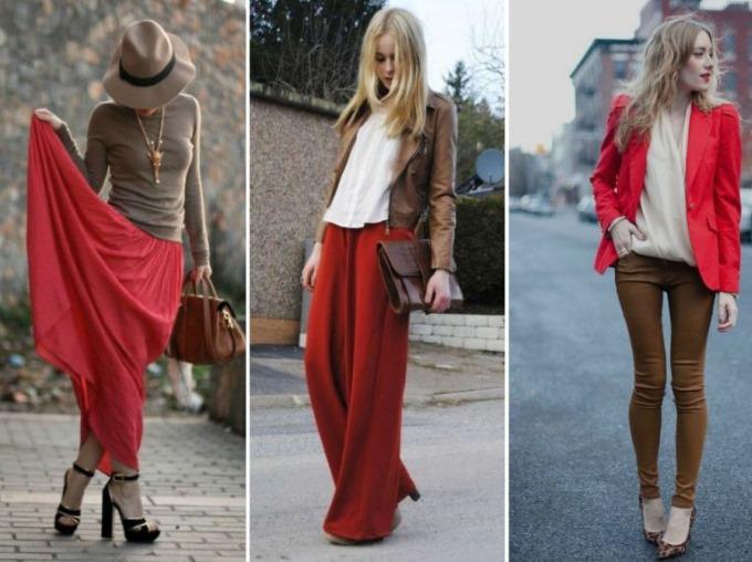 С чем сочетается бордовый цвет в одежде женщин и мужчин. Фото