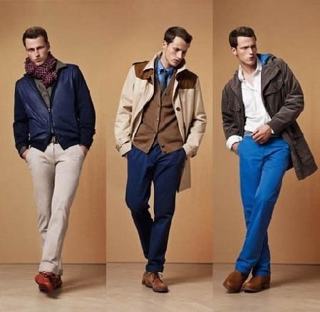 Сочетание синего и коричневого в одежде для женщин и мужчин. Фото, примеры образов