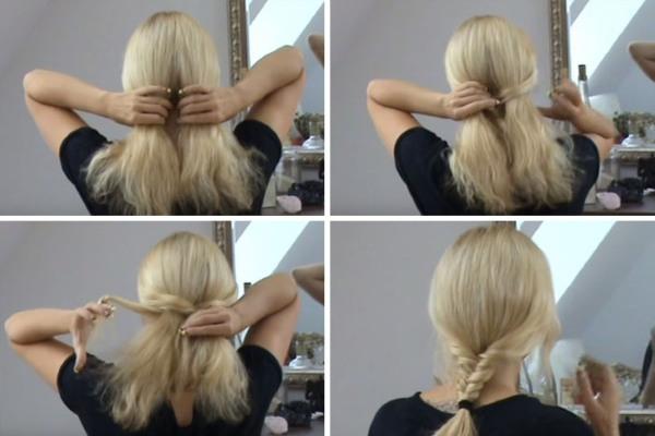 Французские косы на средние волосы для девочек, девушек и женщин. Фото вариантов. Как плести самой себе пошагово для начинающих
