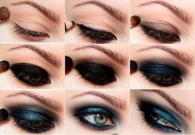 Как правильно краситься тенями пошагово, фото для бровей, век. Макияж для карих, зеленых, серых, голубых глаз