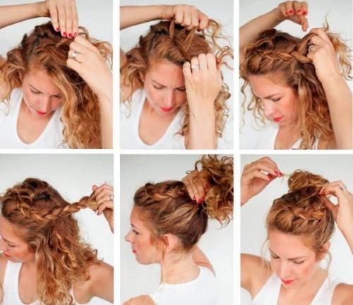 Красивые прически на кудрявые волосы для девушек и женщин на выпускной и каждый день. Фото