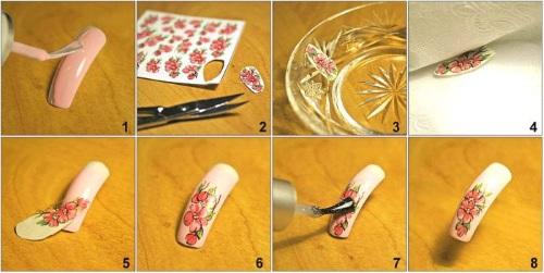 Наклейки на водной основе на ногти. Как распечатать, использовать, клеить под гель, на лак, шеллак