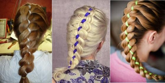 Косы с лентами пошаговые фото плетение кос на длинные волосы