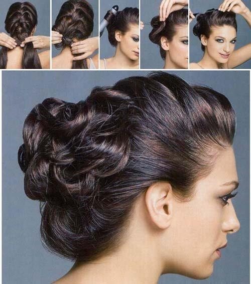 Красивые прически с челкой на средние волосы. Как сделать модную прическу на каждый день или торжество своими руками, как будет выглядеть