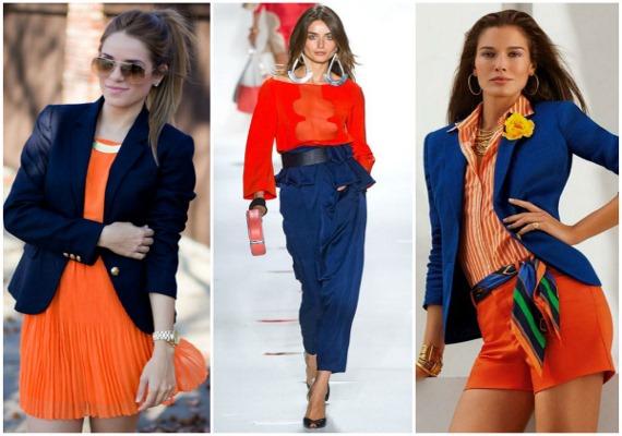 С каким цветом сочетается оранжевый цвет в одежде для женщин. Фото, кому идет, как выглядит, с чем носить