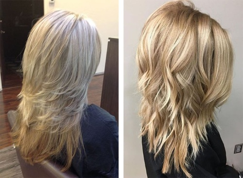 Стрижка Аврора на средние волосы с челкой и без. Фото 2019, вид спереди и сзади. В чем отличие от Каскада, как стричь