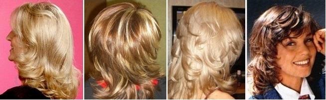 Стрижка Рапсодия на средние волосы для круглого лица, овального, треугольного лица, с челкой и без без укладки. Фото 2018, вид спереди и сзади