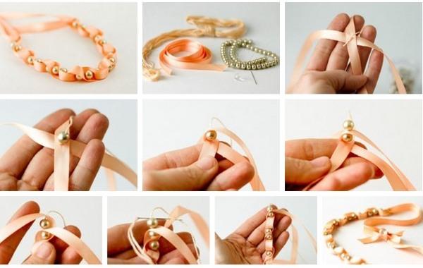 Как сделать украшение для волос своими руками из бусин и проволоки, атласных лент, бисера, фоамирана, со стразами. Пошаговые инструкции с фото
