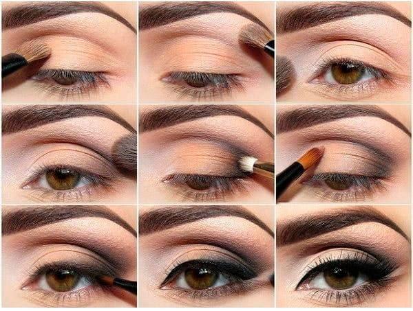 Как красиво накрасить глаза с нависшими веками. Красивый макияж пошагово с фото для начинающих