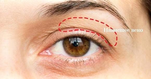 Возрастной макияж для нависшего века и увеличения глаз пошаговое 63