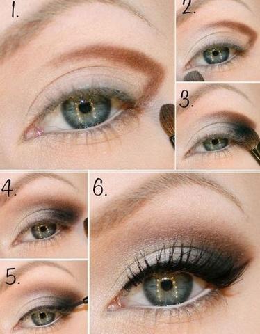 Возрастной макияж для нависшего века и увеличения глаз пошаговое 56