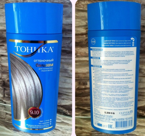 Оттеночный бальзам Тоника: состав, палитра, фото на волосах. Инструкция, как наносить