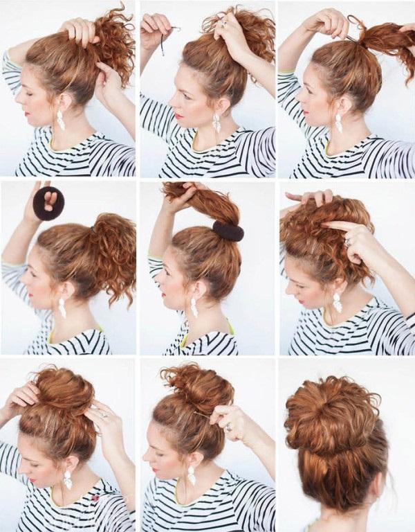 Какие прически можно сделать самой себе на средние волосы фото — pic 7