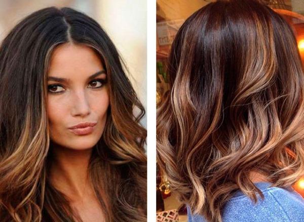 Шоколадный цвет волос с мелированием: кому подходит, краски и оттенки, как сделать, фото