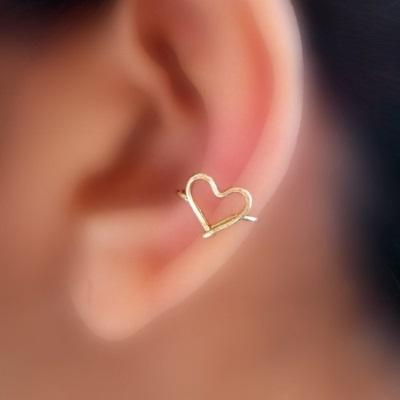 Каффы: серьги на уши из золота, серебра, проволоки. Какие бывают, как носить украшение, как сделать каффы своими руками. Мастер класс. Фото