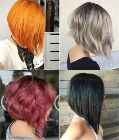 Красивые стрижки на средние волосы, не требующие укладки, с челкой, каскад, на круглое лицо