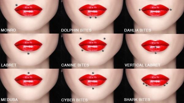 Пирсинг губы: верхней, нижней. Фото у девушек, как делается, сколько заживает, как ухаживать, цена процедуры