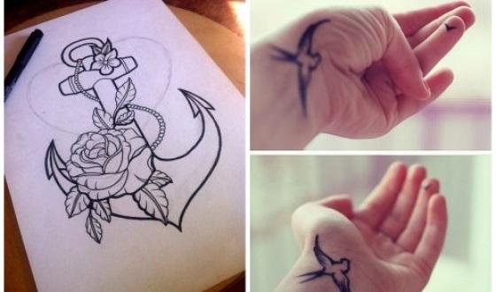 Татуировки временные. Как сделать в домашних условиях: гелевой ручкой, хной, краской, наклейки, цветные и черно-белые, карандашом для глаз, маркером, при помощи трафарета