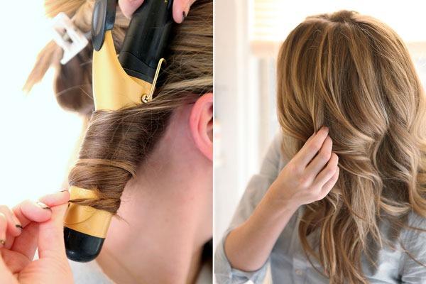 Кудри на средние волосы быстро и красиво