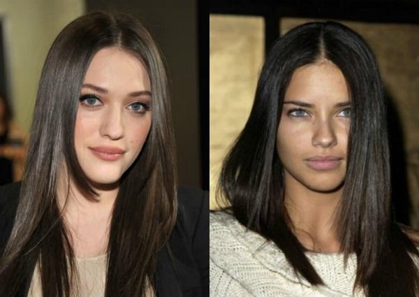 Цвет темный каштан для окрашивания волос. Фото с голубыми, зелеными, карими глазами шоколадный, с красноватым оттенком