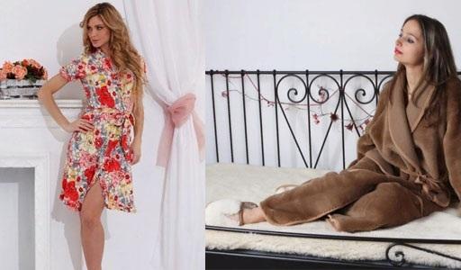 Женские домашние халаты. Виды, материалы: махровый, пеньюар, с капюшоном, вышивкой, ушками, запахом, шелковый, велюровый